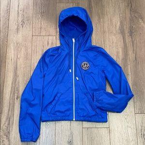 Abercrombie & Fitch Women's Blue Hooded Jacket (S)
